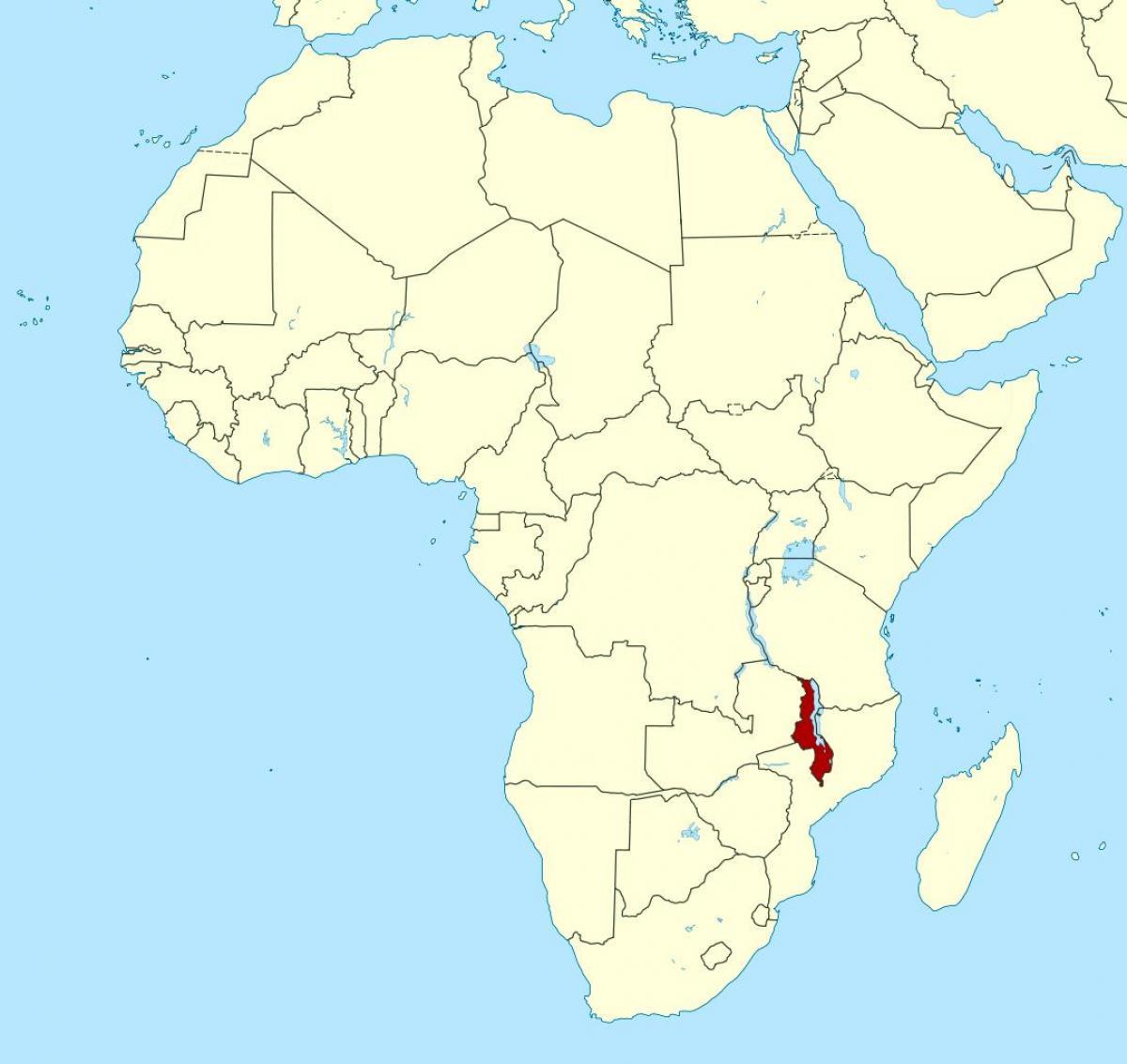Cartina Mondo Orientale.Malawi Sulla Mappa Del Mondo Malawi Posizione Sulla Mappa Del Mondo Africa Orientale Africa
